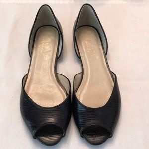 Never worn Talbots 7.5 Black Leather Slip On Shoe